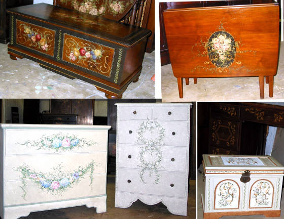More Hand Painted Furniture And Home Decor
